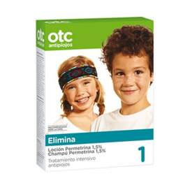 OTC Pack Tto Completo Antipiojos Permetrina 1.5% Antipiojos Locion y Champu BR