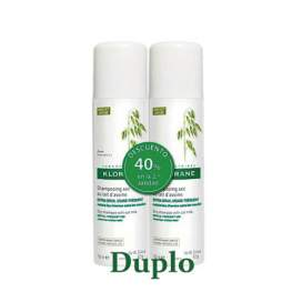 Klorane Gentle dry Shampoo with oat milk 2x150ml Duplo