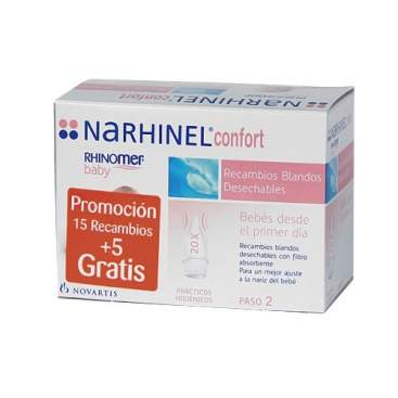 Narhinel Confort Recambios 20 Desechables
