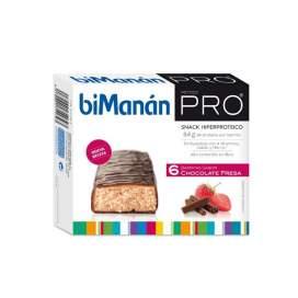 Bimanan Metodo Pro Barrita Chocolate Fresa 6 Barritas