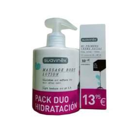 Suavinex Pack Duo Hidratacion Locion Masaje 400Ml + Crema Facial 50Ml