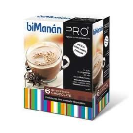 Bimanan Pro Batido Dieta Hiperproteica Hipocalorica 180 G 30 G X 6 U Chocolate