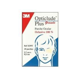3M Opticlude Plus Parches Oculares 1539 T- Grande 8,3 X 5,7 Cm 20 U