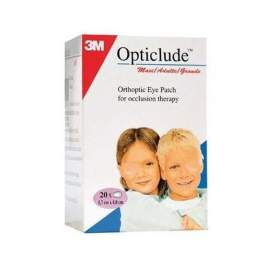 3M Opticlude Parches Oculares 1539 T-Grande 8,0 X 5,7 Cm 20 U