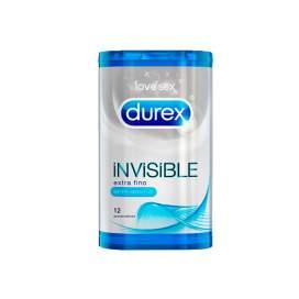 Durex Invisible Extra Fino Extra Sensitivo Preservativos 12 U