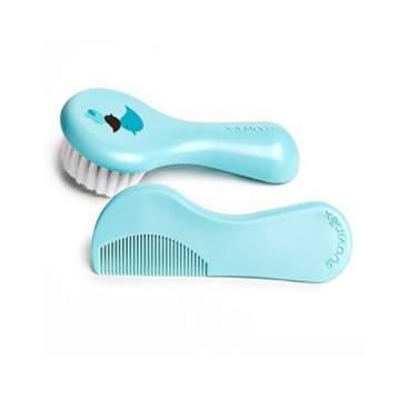 Suavinex Cepillo y Peine Infantil Soft Azul Decorado