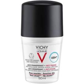 Vichy Homme Hombre Desodorante 48H Antimanchas Roll On 50 Ml