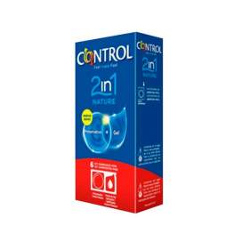 Control 2 en 1 Nature 6U (Preservativo + Gel Lubricante)