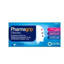 Pharmagrip 500/4/10 Mg 14 Capsulas