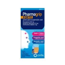 Pharmagrip Forte 650/4/10 Mg 10 Sobres Polvo Suspension Oral