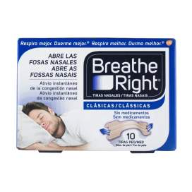 Rhinomer By Breathe Right Tira Nasal Clasicas T- Peq-Med 10 U