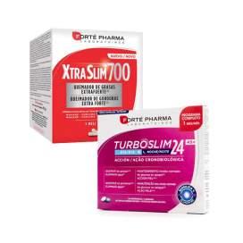 Xtraslim 700 120 Capsulas + TurboSlim Cronoactive 45+ 56 comprimidos