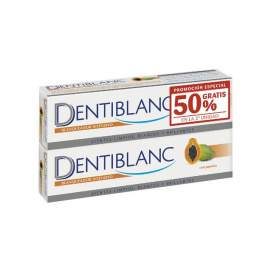 Dentiblanc Duplo Whitening Toothpaste Papaya 2x100ml