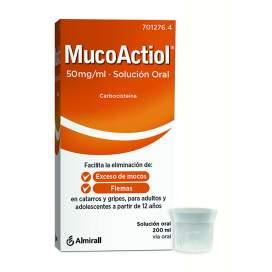 Actithiol Mucolitico Adultos 50 Mg/Ml Solucion Oral 200 Ml