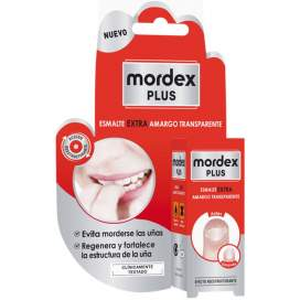 Mordex Plus Esmalte Amargo Transparente Con Pincel 9Ml