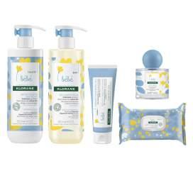 Klorane Pack Primeros Cuidados (Leche 500Ml+Gel 500Ml+Erypomada 75G+Toall70+Agua Per 50Ml)