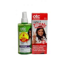 Otc Antipiojos Formula Total 125Ml Spray + Spray Desenredante Protect 250Ml
