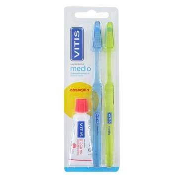 Vitis Escova de dentes Adulto Médio Duplo