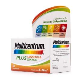 Multicentrum Plus Ginseng y Ginkgo 30 Tablets