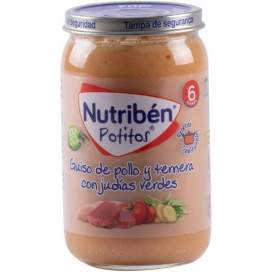 Nutriben Recetas Tradicionales Guiso De Pollo Y Ternera Con Judias Verdes Potito 235 G
