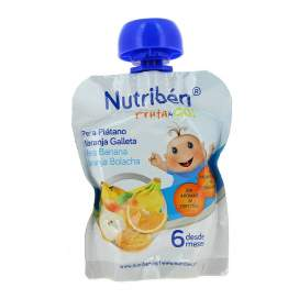 Nutriben Fruta &Go Galletas Pera Platano Naranja 90G