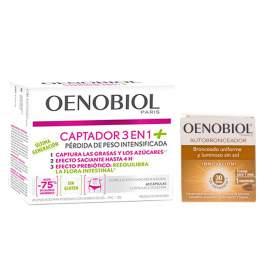 Oenobiol Captadot 3En1 Plus + Oenobiol Autobronceador 30 Capsulas