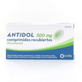 Antidol 500 Mg 20 Comprimidos Recubiertos