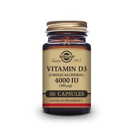 Solgar Vitamina D3 4000 UI (100Mcg) 60 Capsulas Vegetales