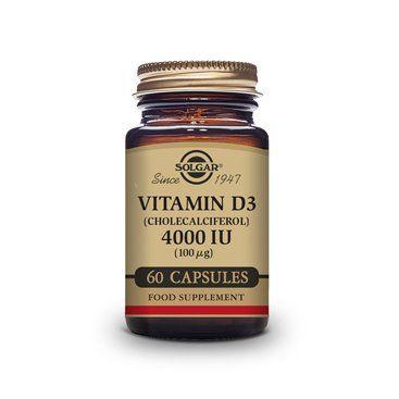 Solgar Vitamina D3 4000 UI (100Mcg) 60 Cápsulas vegetais