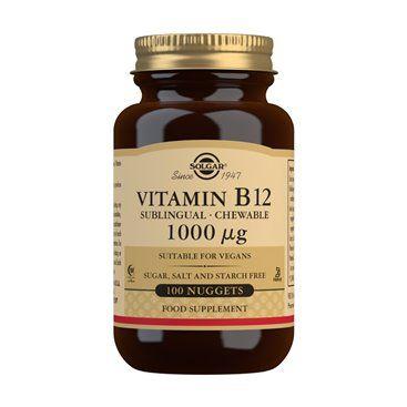 Solgar Vit B12 1000Mcg (Cianocobalamina) 100 Comp. Masticables