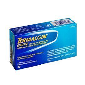 Termalgin Gripe 650/4/10 Mg 10 Sobres Granulado Solucion Oral