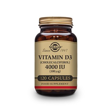 Solgar Vitamina D3 Colecalciferol 4000Ui 100Mcg 120 Capsulas Vegetales
