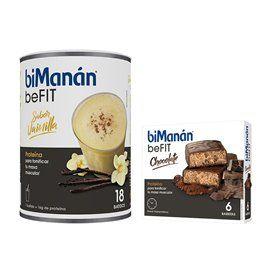 Bimanan beFit Batido Vainilla 540G + Bimanan beFit 6 Barritas Chocolate