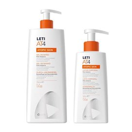 Leti At-4 Gel Baño 750Ml + Leche Corporal 250Ml