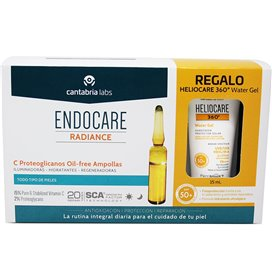 Endocare C Proteoglicanos Oil Free 30 Ampollas + Heliocare 360 Water Gel 1Ml
