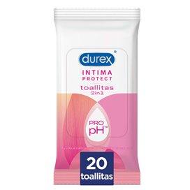 Durex Intima Protect Toallitas Intimas 20 Toallitas