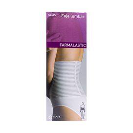 Farmalastic Faja Lumbar Velcro Blanca T- 1