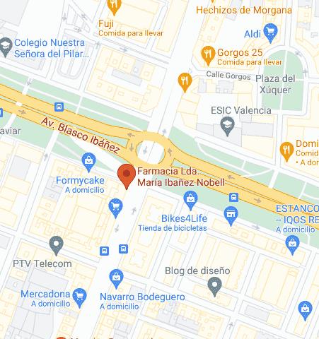 Google Map of Avenida Cardenal Benlloch, 109, 46021 Valencia