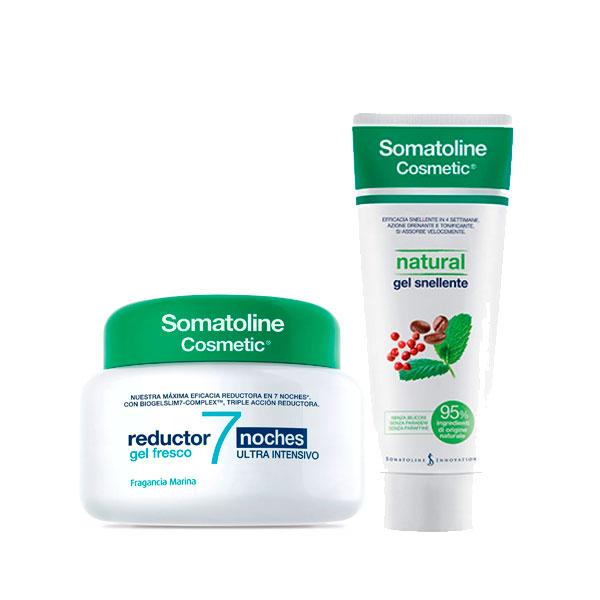 Somatoline 7 Noches Gel Fresco 400Ml + Somatoline Natural Gel Reductor 250Ml